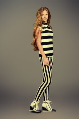 clothing striped girl