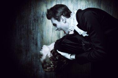hungry vampire Halloween.