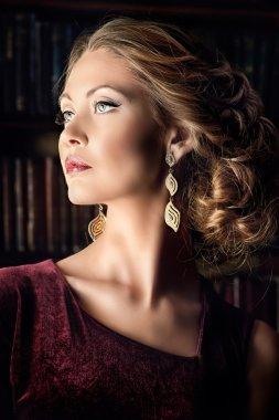 luxurious fashion woman