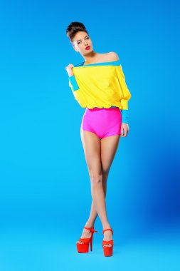 vogue model. Bright fashion.