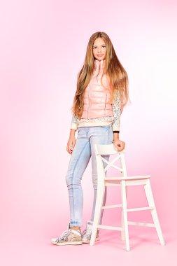 pink style. . Studio shot.