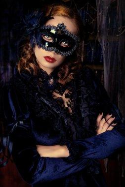 medieval lady. Vintage style.