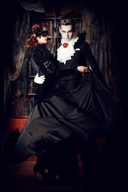 dracula dance. Halloween.