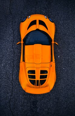 Orange race car