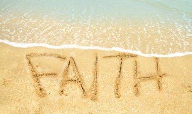Faith written in sand