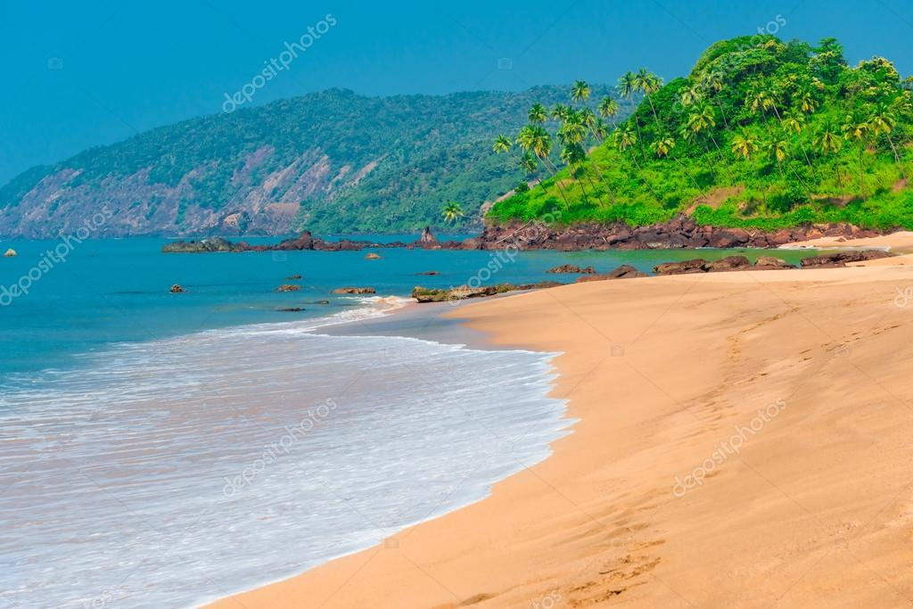 Goa beach. Stunning views of paradise place