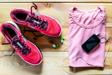 Clothes and shoes for a morning run