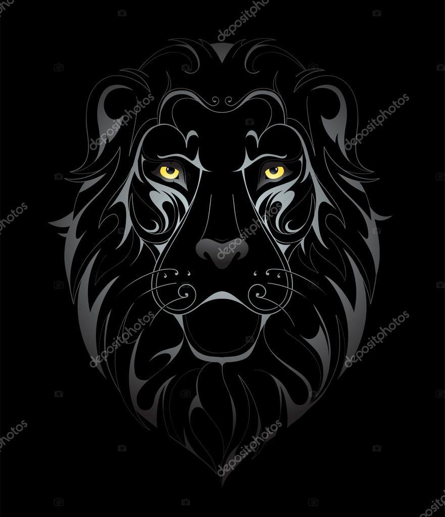 cabeça de leão desenho tatuagem vetor de stock akv lv 104610978