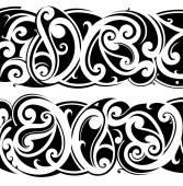 Insieme del tatuaggio Maori