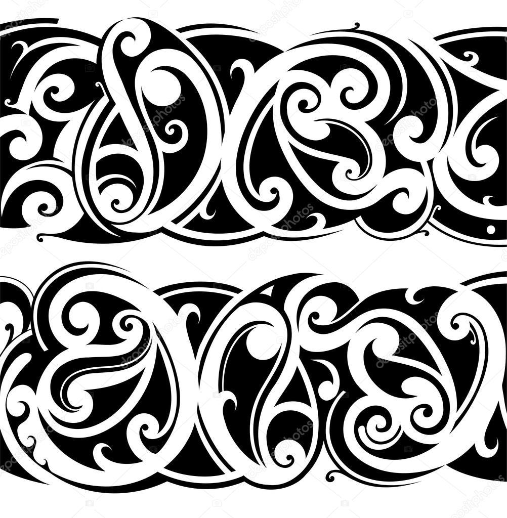 Maories Del Tatuaje Conjunto Archivo Imagenes Vectoriales C Akv Lv - Fotos-de-maories