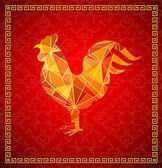 Čínský Nový rok 2017 kohout horoskopu symbol