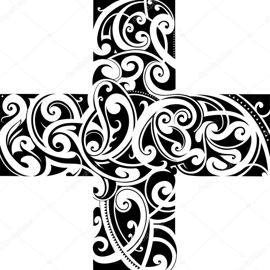 Imagenes Maories Styly De Maories Del Tatuaje De Forma Cruzada - Fotos-de-maories
