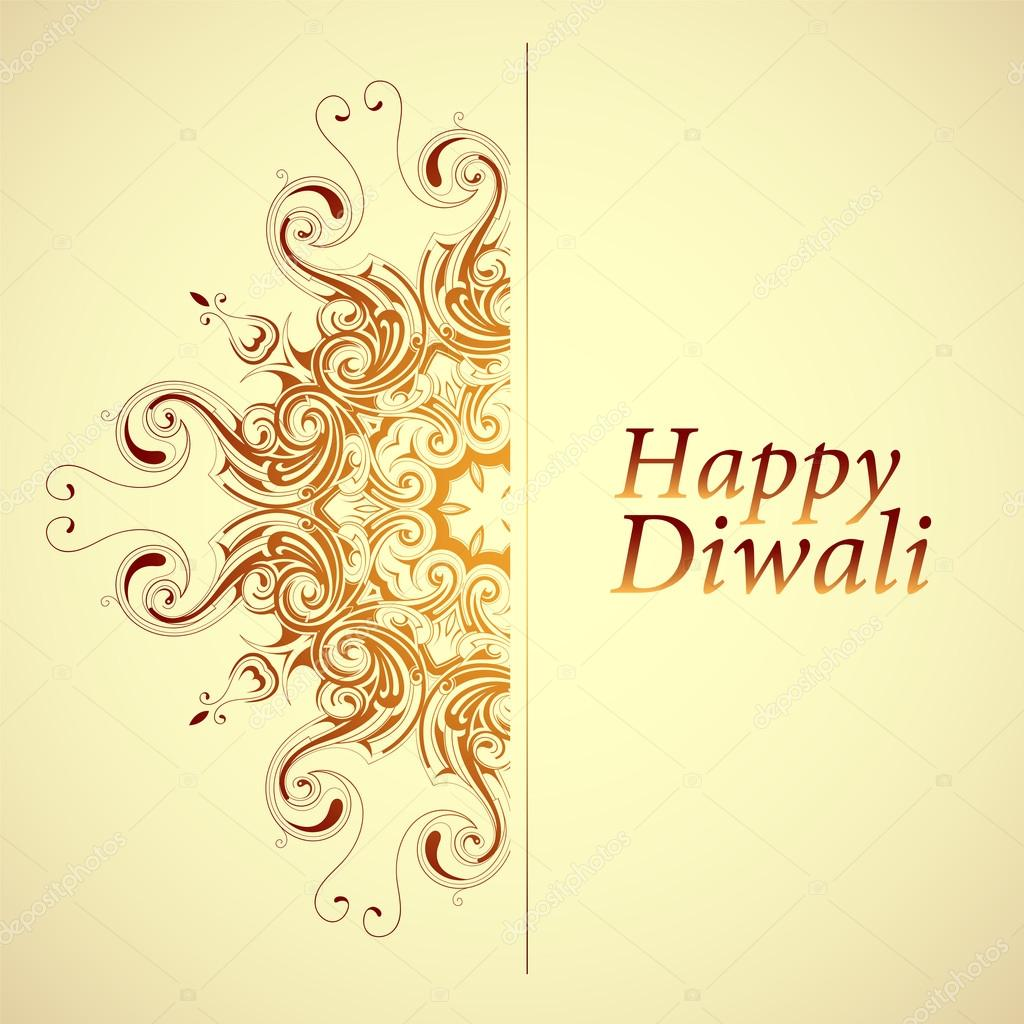 Happy Diwali Greeting Card Stock Vector Akvlv 118364640