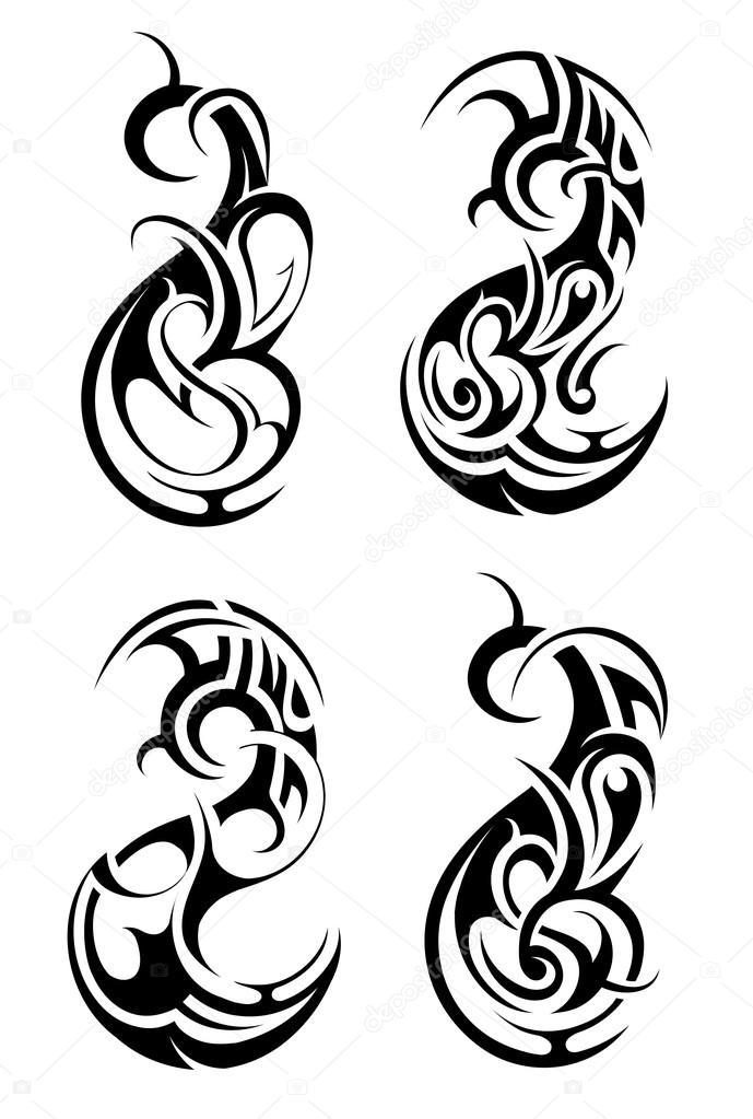 maori tattoo tier stockvektor akv lv 59453585. Black Bedroom Furniture Sets. Home Design Ideas