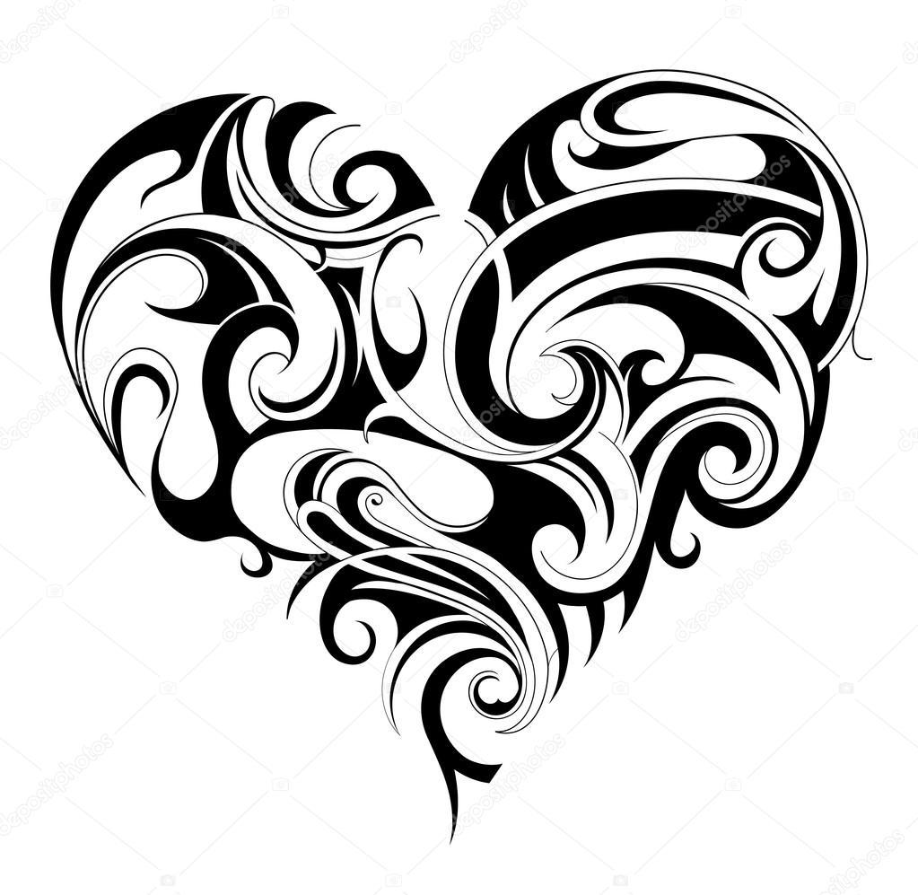 心脏的形状纹身 图库矢量图像 169 Akv Lv 64670253