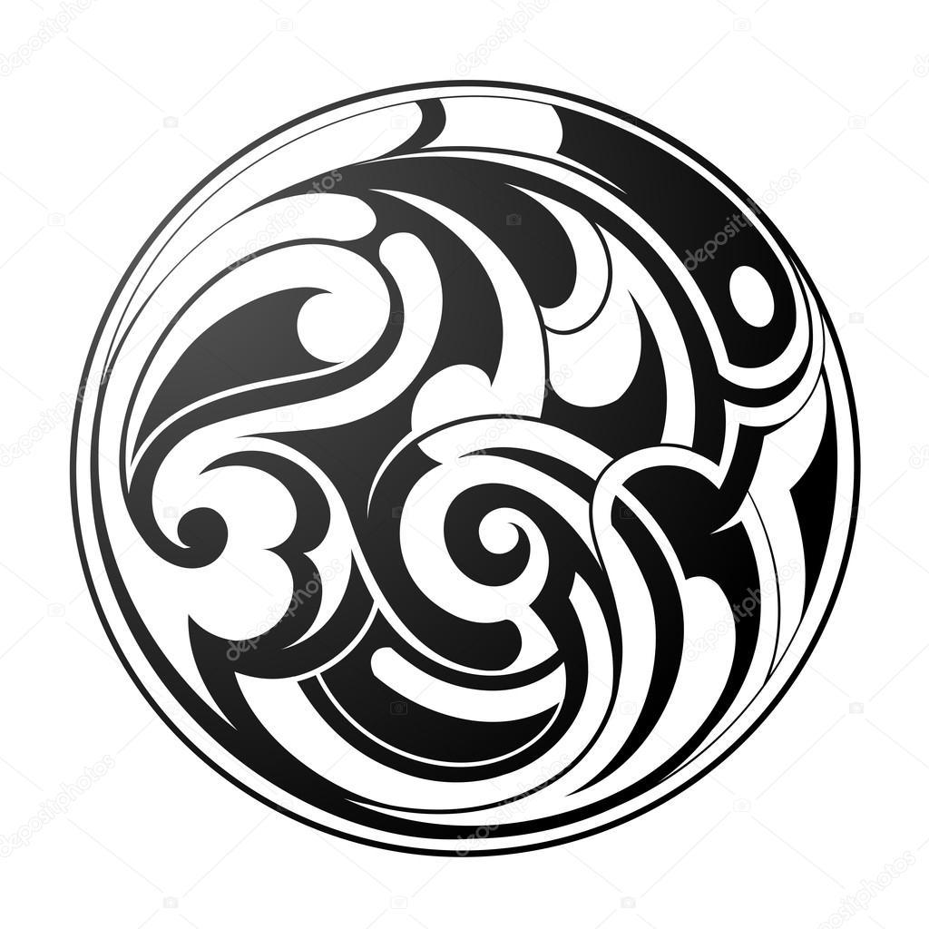 Vector Tribales Redondos Maori Tatuajes Redondos Vector De