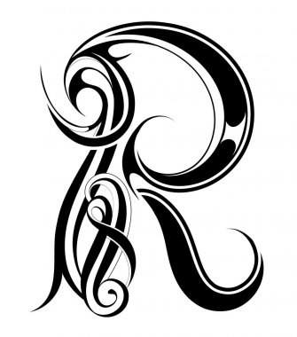 Letter R Gothic style