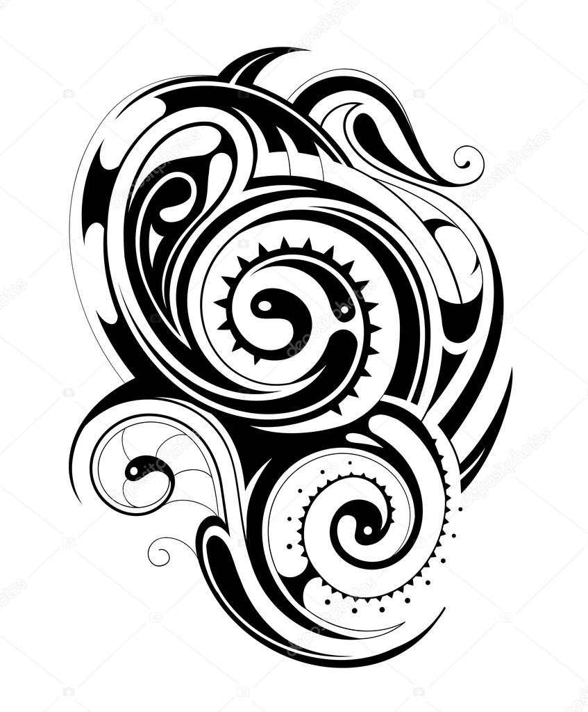 Dibujos Maories Tatuajes Tribales Maories Vector De Stock - Dibujos-maoris