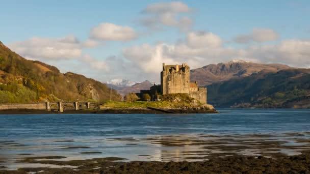 Čas zániku hradu Eilean Donan Skotsko