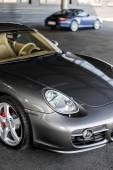 Kyiv, Ukraine - April 4th, 2014: Photoshoot of Porsche Cayman near automotive center Porsche Center Kyiv Airport
