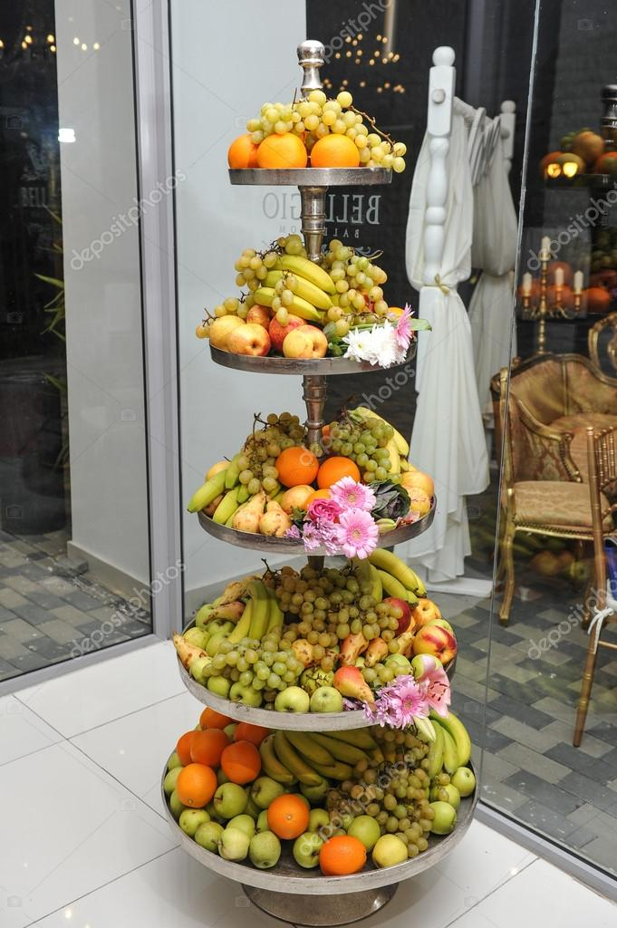 Fruits arrangement fresh various fruits elegant for Fruit orange decoration