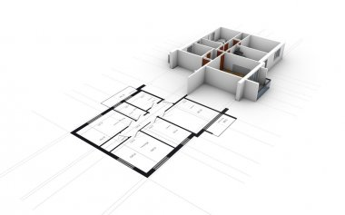 rendering of residential house over plots