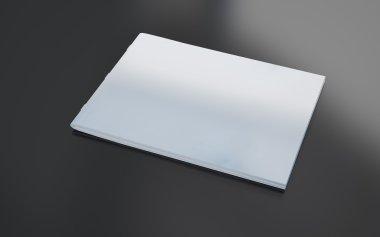 3d rendering of blank grey brochure stock vector