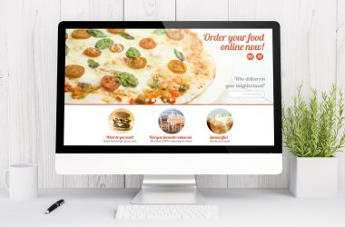 food order website on computer screen