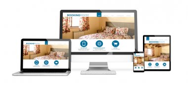 booking room responsive website design