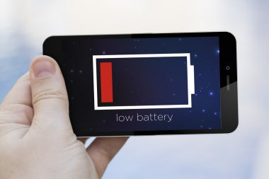 Smartphone with low battery