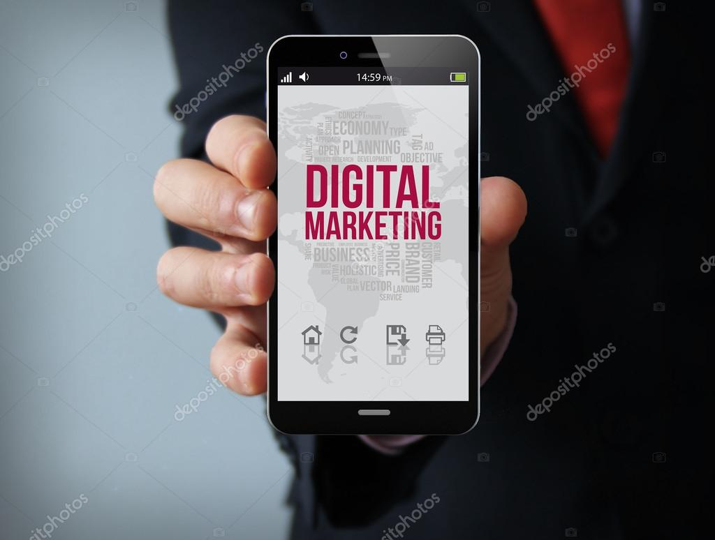 Digital marketing on screen