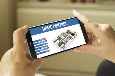 home remote control interface on screen