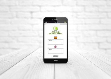 smart phone with translator app