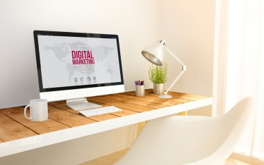 digital marketing on computer screen