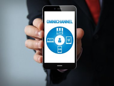 Omnichannel graphic on the screen
