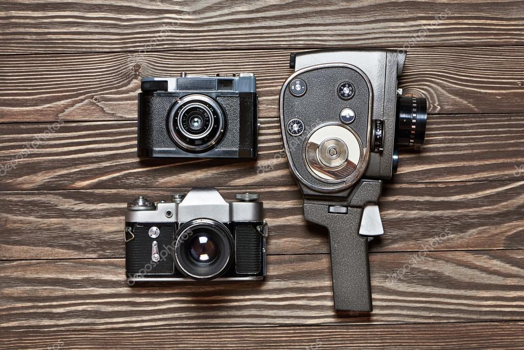 Retro slr kamera entfernungsmesser und mechanische filmkamera