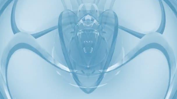 Blaue Spiegel schön abstrakt