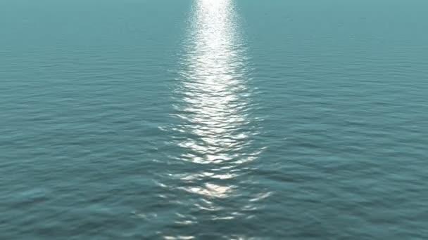 Lichtwellen des Ozeans sonniger Tag. Schleifenhintergrund.