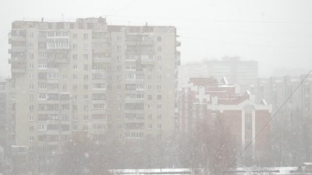 Sněhové vločky ve velkém městě