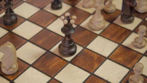 Sakk. A sakk-matt. Wins-fehér.
