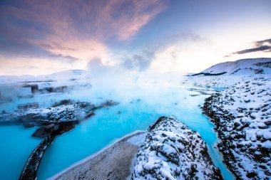 Blue lagoon hot spring spa.