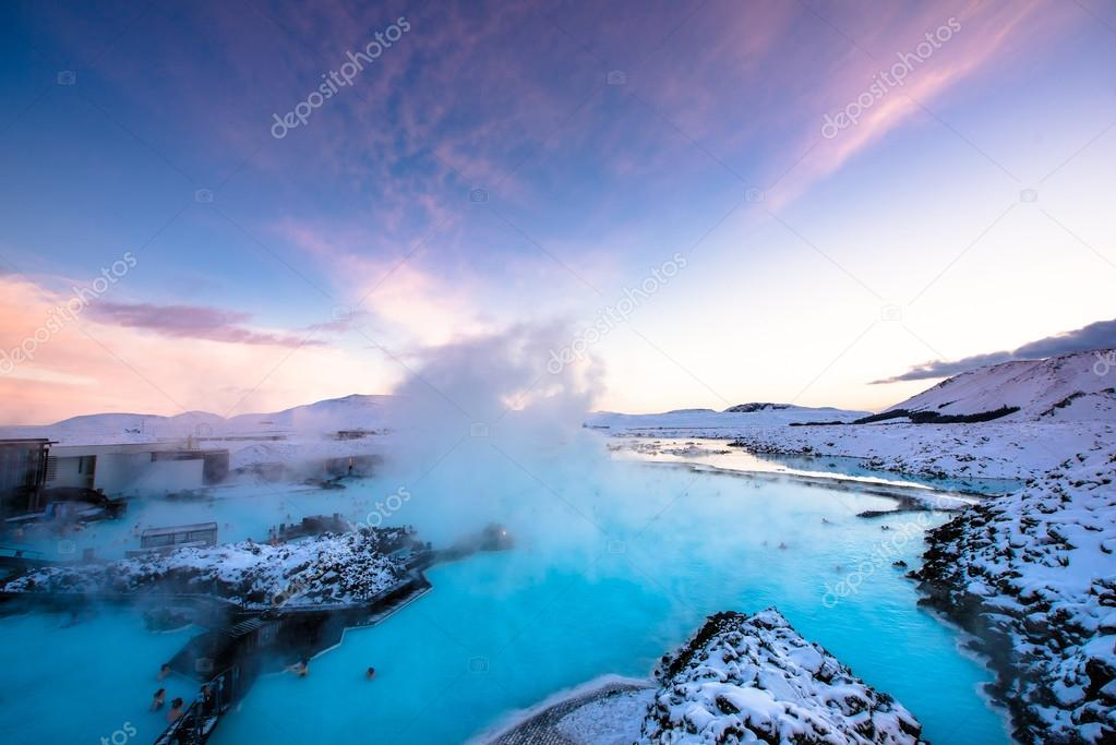 Blue lagoon hot spring spa.