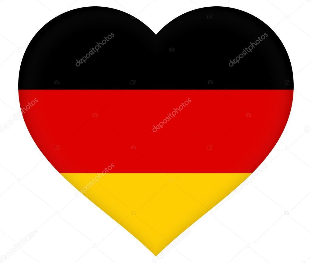 Bandiera della germania cuore foto stock diverroy - Bandiera della pagina di colorazione della germania ...