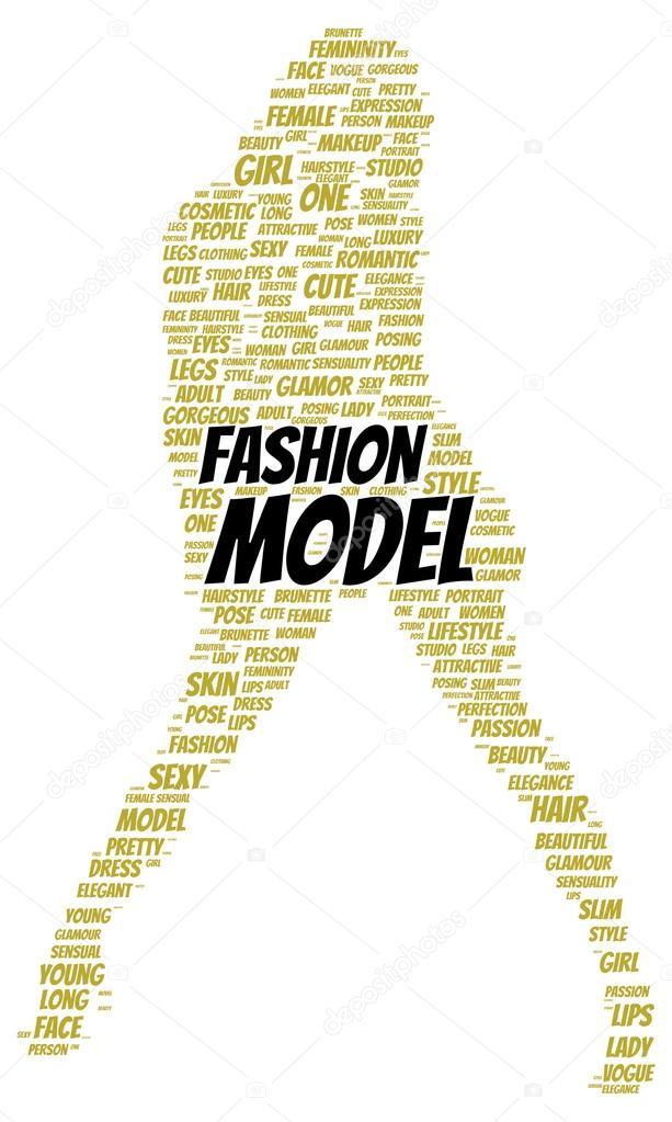 Fashion Model Word Cloud Shape Stock Photo Ibreakstock 100460682