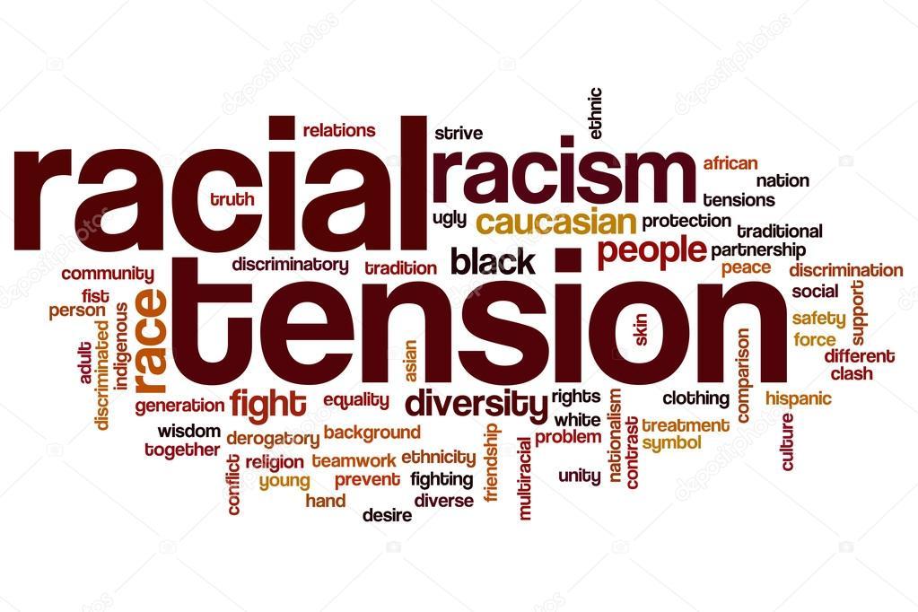 Rassische Spannung Wort-Wolke — Stockfoto © ibreakstock #101248108