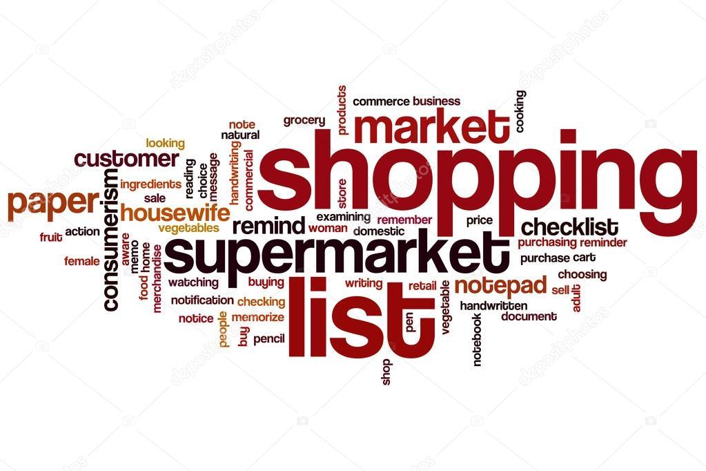 Shopping List-Wort-Wolke — Stockfoto © ibreakstock #101252456
