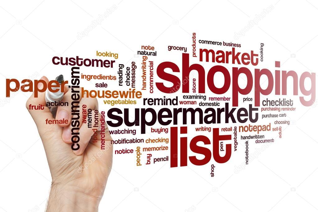 Shopping List-Wort-Wolke — Stockfoto © ibreakstock #105196270