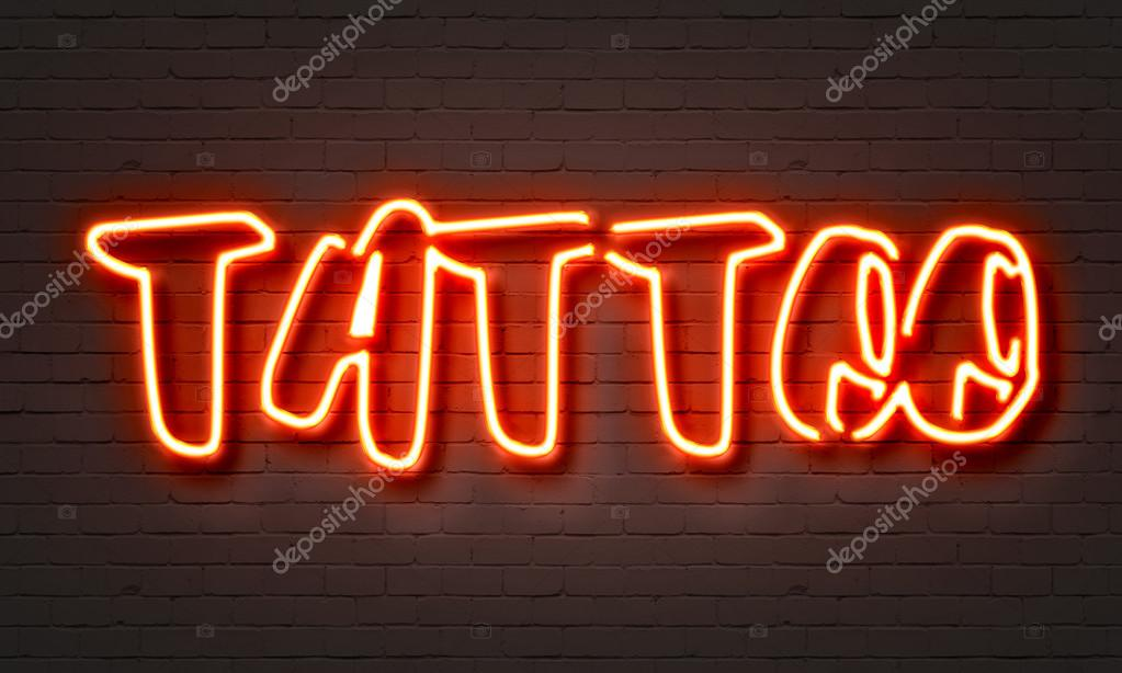 D vme k rm z neon tabela stok foto ibreakstock 105197978 for Neon tattoo signs