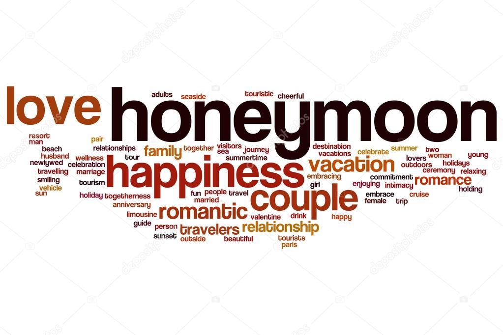Honeymoon Word Cloud Stock Photo