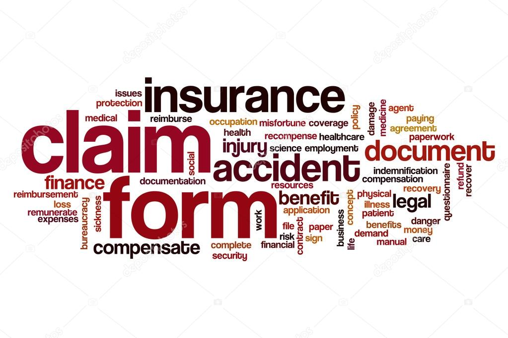 Claim Form Word Cloud  Stock Photo  Ibreakstock